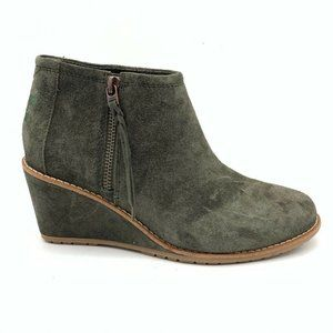 Toms Womens Suede Cora Booties Forest Green 6